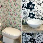 Tecidos bem estampados e coloridos são ótimos para transformar cantos pequenos da sua casa.