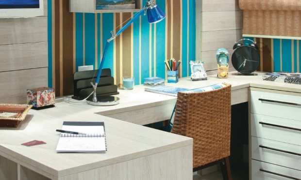 Home office o seu escrit rio dentro de casa quintela for Escritorios modernos para casa