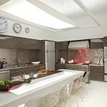Cozinha com iluminação geral